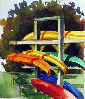 Painting - Fennimore Kayaks by Libby  Cagle