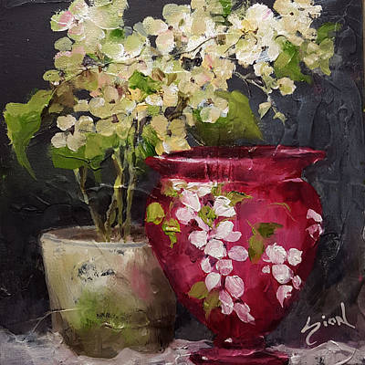 Painting - Fenton And Hydrangea by Sue Dion