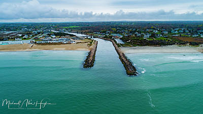 Photograph - Fenway Beach Breakwater by Michael Hughes