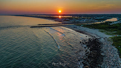 Photograph - Fenway Beach Sunset by Michael Hughes
