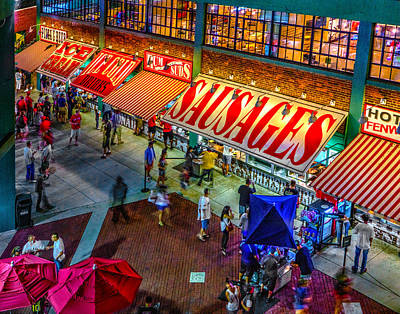 Photograph - Fenway Food Court 3845 by Jeff Stallard