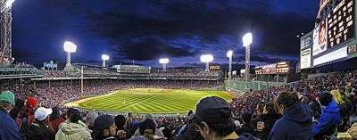 Yankee Stadium Bleachers Photograph - Fenway Night by Rick Berk