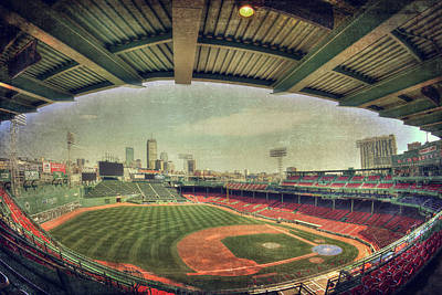 Boston Red Sox Photograph - Fenway Park Ball Park - Boston Red Sox by Joann Vitali