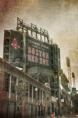 Stadium Scene Photograph - Fenway Park Billboard - Boston Red Sox by Joann Vitali
