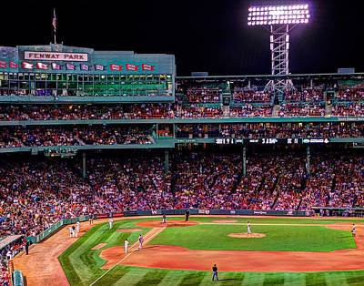 Photograph - Fenway Park Boston 0478 by Jeff Stallard