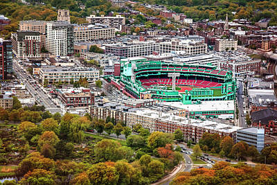 Stadium Scene Photograph - Fenway Park  Boston Red Sox by Carol Japp