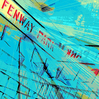 Fenway Park Digital Art - Fenway Park V1 by Brandi Fitzgerald