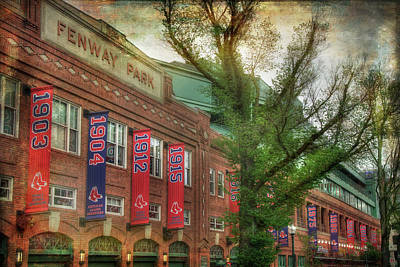 Boston Red Sox Photograph - Fenway Park Championship Banners - Boston Art by Joann Vitali