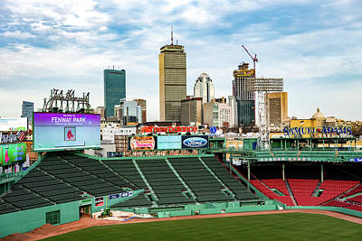 Photograph - Fenway Park Field  by Joseph Caban