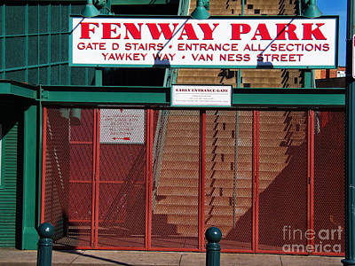 Photograph - Fenway Park, Gate D by Lita Kelley