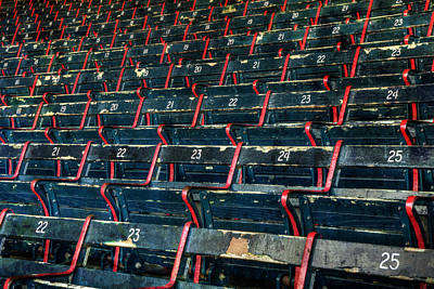 Photograph - Fenway Park Grandstand Seats by Joann Vitali