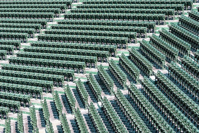 Red Sox Photograph - Fenway Park Green Bleachers by Susan Candelario