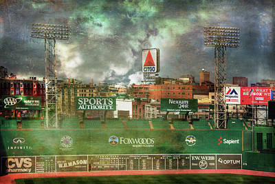 Fenway Park Photograph - Fenway Park Green Monster And Citgo Sign by Joann Vitali
