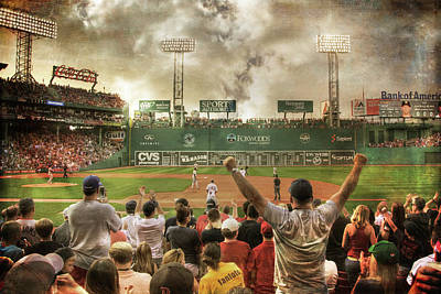Photograph - Fenway Park Green Monster by Joann Vitali