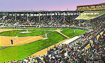 Painting - Fenway Park In Boston Ma In 1940 by Dwight Goss