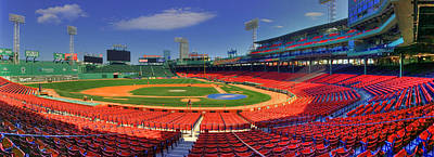 Fenway Park Interior Panoramic - Boston Print by Joann Vitali