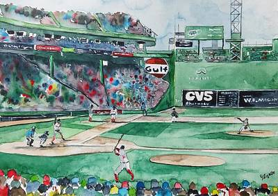 Fenway Park Boston Painting - Fenway Park by James Lagasse