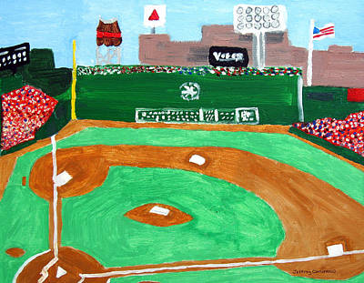 Baseball Painting - Fenway Park by Jeff Caturano
