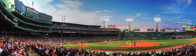 Sports Royalty-Free and Rights-Managed Images - Fenway Park Panoramic - Boston by Joann Vitali