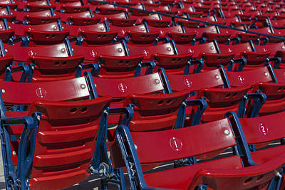 Fenway Park Photograph - Fenway Park Red Bleachers by Susan Candelario