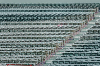 Photograph - Fenway Park Red Chair Number 21 by Susan Candelario