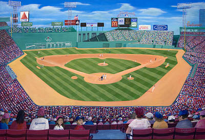 Boston Red Sox Painting - Fenway Park by Richard Ramsey