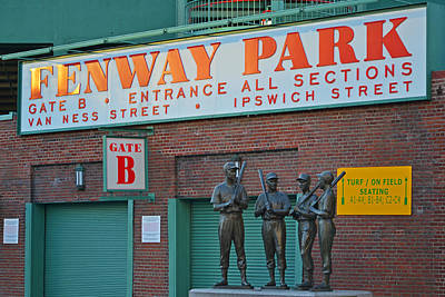 Photograph - Fenway Park Statues Boston, Ma by Toby McGuire