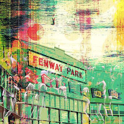 Fenway Park V3 Art Print by Brandi Fitzgerald