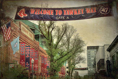 Fenway Park Photograph - Fenway Park Yawkey Way Sign by Joann Vitali