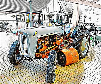 Photograph - Ferguson Tractor And Grass Roller by Dorothy Berry-Lound