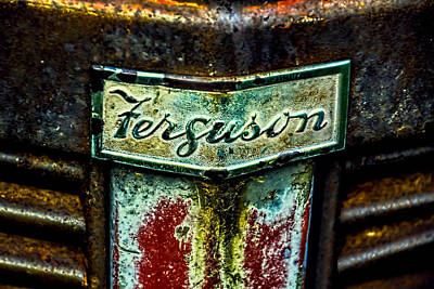 Photograph - Ferguson Tractor Logo Rust Vintage  by Christina VanGinkel