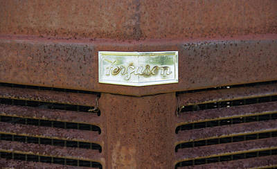 Rustic Photograph - Ferguson Tractor Emblem by Brian Manfra