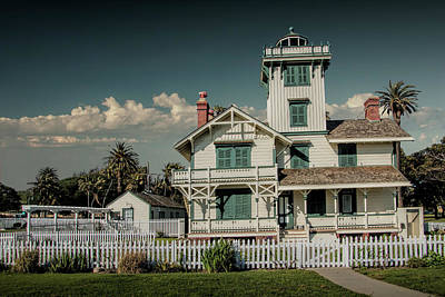 Photograph - Fermin Point Lighthouse In Los Angeles by Randall Nyhof