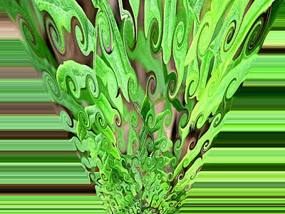 Photograph - Fern Abstract by Kathy K McClellan