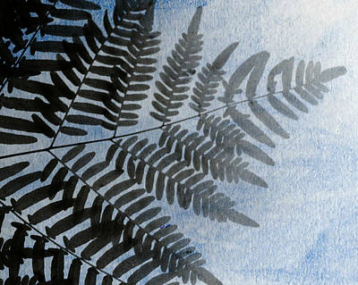 Photograph - Fern Abstracted In Blue by Stephanie Maatta Smith