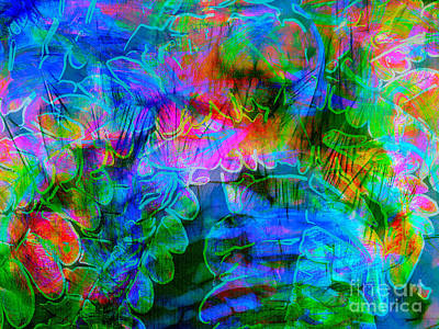 Photograph - Fern Batik Abstract by Judi Bagwell