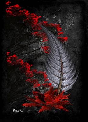 Digital Art - Silver Fern  by Ali Oppy
