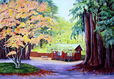 Painting - Fern River Hide Away by Beverly Martin