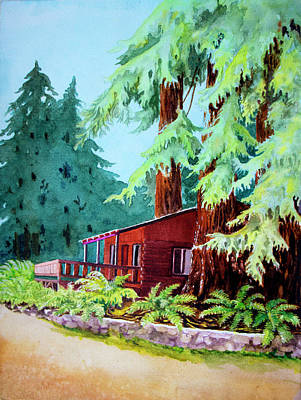 Painting - Fern River Redwoods by Beverly Martin