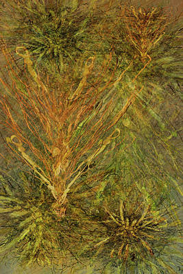Mixed Media - Fern Series #1 by Kristin Doner