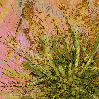 Digital Art - Fern Series 32 Fern Burst by Kristin Doner