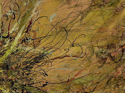 Mixed Media - Fern Series Ping To Gray Tendril Detail by Kristin Doner