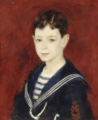 Boy Portrait Painting - Fernand Halphen As A Boy by Auguste Renoir