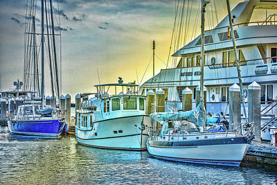 Photograph - Fernandina Harbor - Amelia Island by Barry Jones