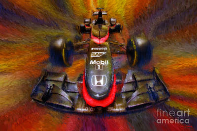 Photograph - Fernando Alonso Mclaren Honda 2015 by Blake Richards