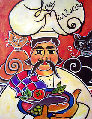 Painting - Fernando And The Fish by Jan Oliver-Schultz