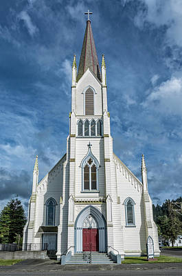 Art Print featuring the photograph Ferndale Catholic Church by Greg Nyquist