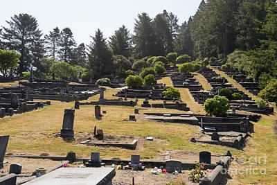 Photograph - Ferndale Cemetery Humboldt County California Dsc5423 by Wingsdomain Art and Photography
