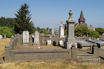 Photograph - Ferndale Cemetery Humboldt County California Dsc5426 by Wingsdomain Art and Photography