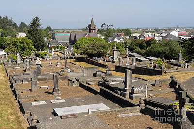Photograph - Ferndale Cemetery Humboldt County California Dsc5429 by Wingsdomain Art and Photography